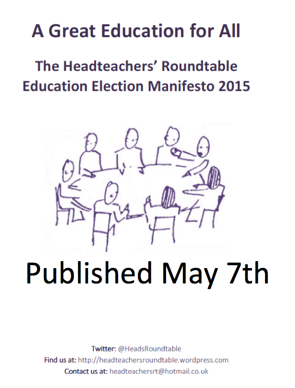 The HTRT Education Manifesto Launch May 7th
